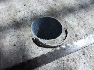 Innenrohr von Hantelscheibe aus Beton kürzen - plan