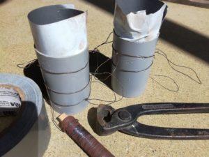 Innenrohr mit Drahtanker für Hantelscheibe aus Beton
