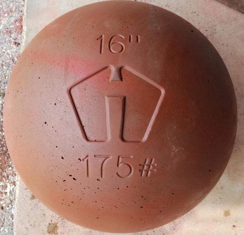 Atlas Stein - leicht rot - 65kg